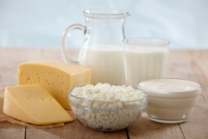 Examples of dairy foods.
